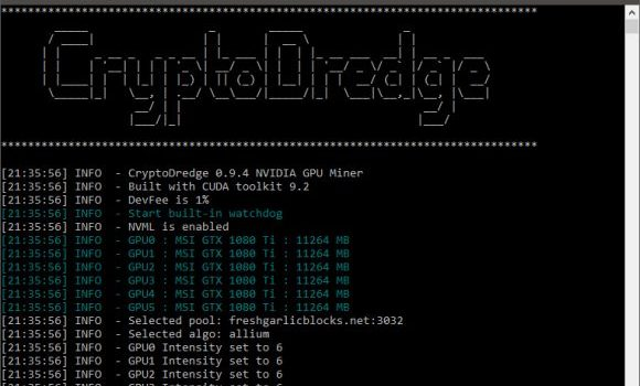 CryptoDredge 0.9.4 Nvidia Miner With a Number of New Algorithms Now Supported