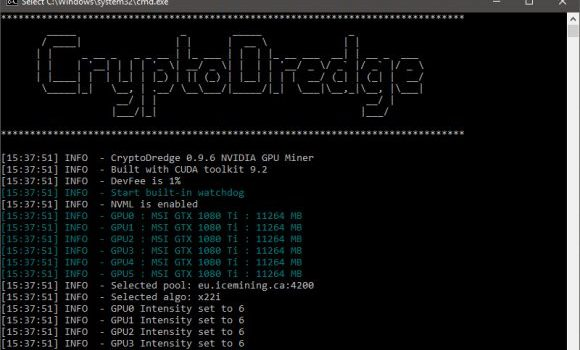 CryptoDredge 0.9.6 Nvidia Miner With Support for the X22i Algorithm